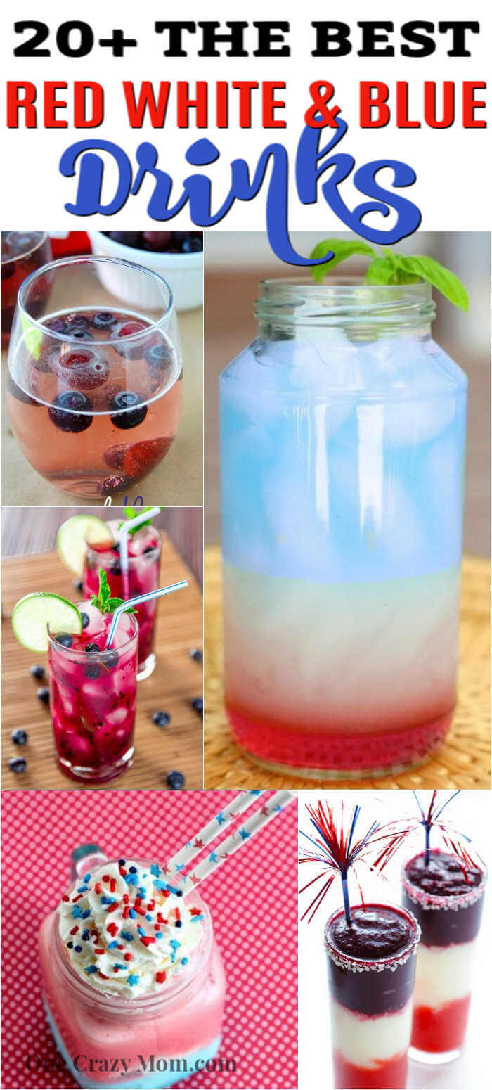 Try one of these festive and tasty 4th of July drinks. Choose from over 25 red white and blue drinks that are easy to make and fun to drink.