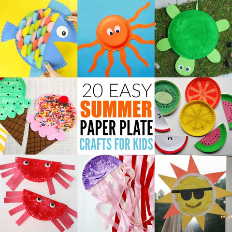 20 Easy Summer Paper Plate Crafts for Kids