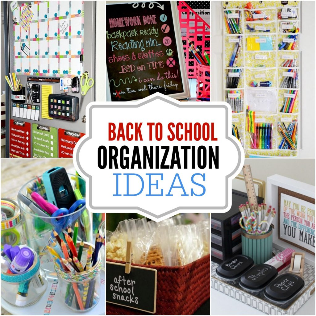 15 Articles To Help Organize Your Home For The New Year: DIY Back To School Organization Ideas