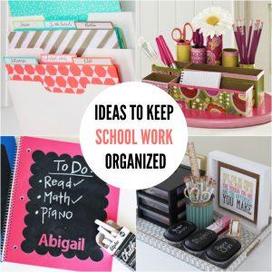 15 DIY Back to School Organization Ideas