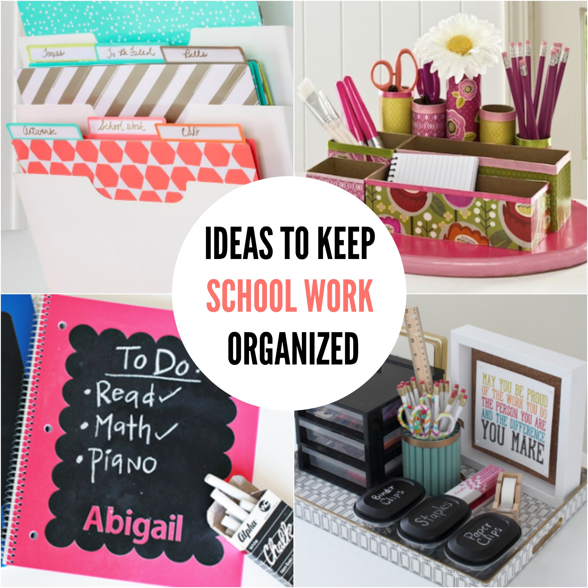 15 DIY Back to School Organization Ideas