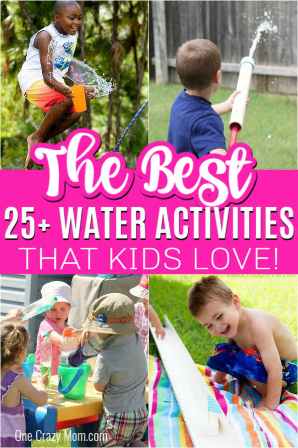 Check out these awesome water activities for kids. 25 fun water activities for kids that everyone is sure to love. Perfect for summer and frugal too!