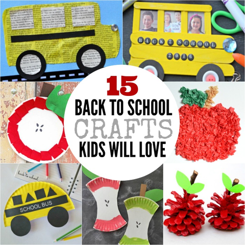 15 Back to School Crafts for Kids