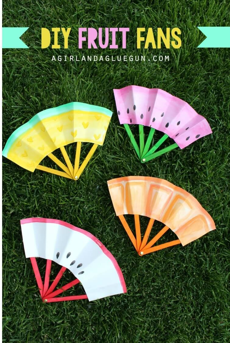 Looking For Summer Crafts Kids Find 35 Easy Here DIY Fruit Fans