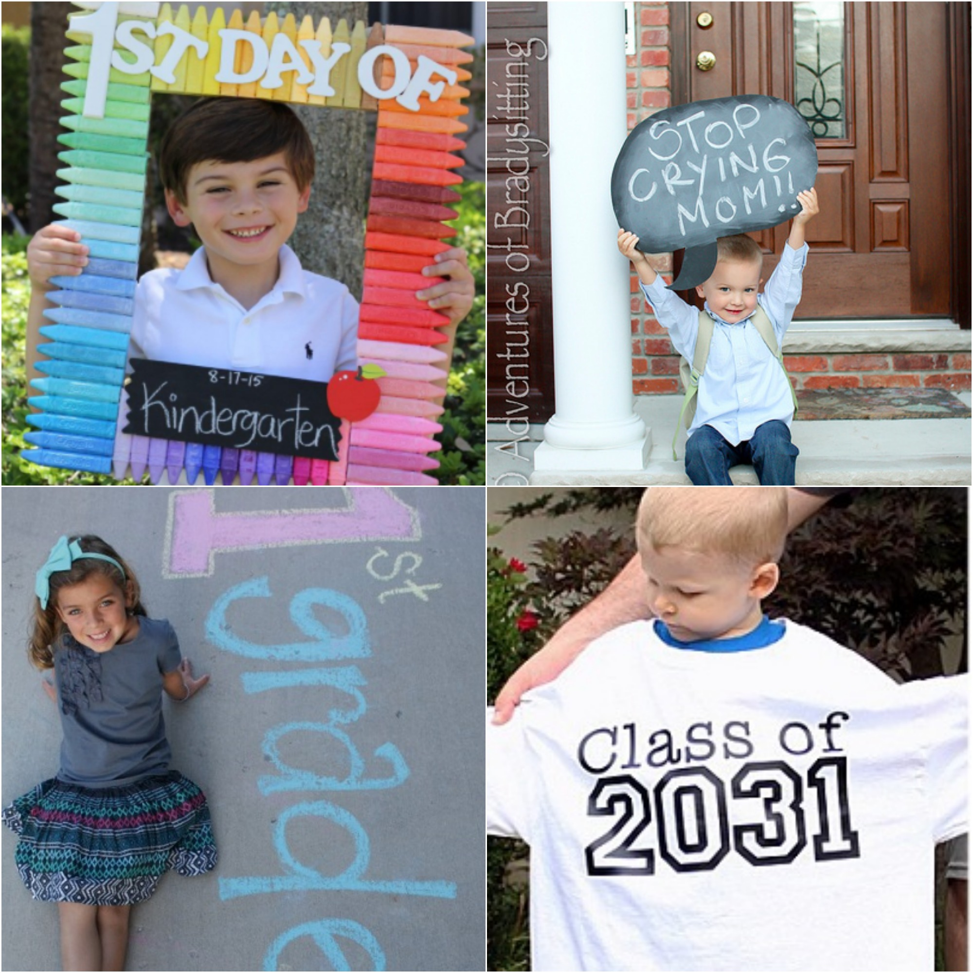 10 Adorable First Day of School Picture Ideas