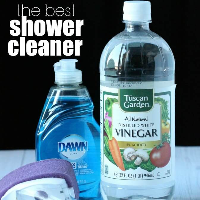 Try out the Best homemade shower cleaner. It is the Best diy Shower Cleaner with only 2 ingredients. Plus it also is the best Bathtub Cleaner!