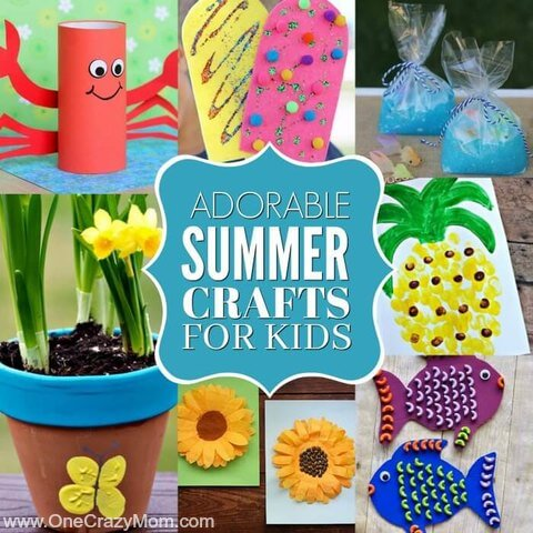 35 Fun and Easy Summer crafts for kids