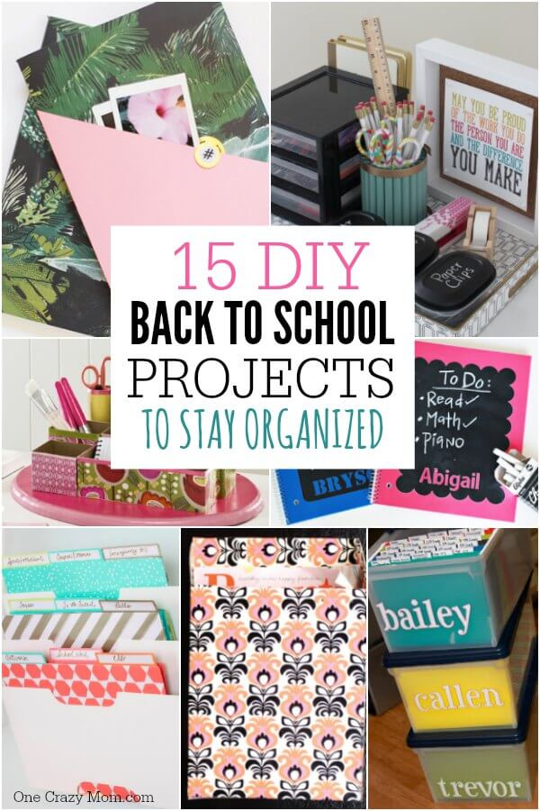 Here are 15 DIY back to school organization ideas to have a great school year! Streamline all the paperwork with these back to school diy organization ideas. Easy diy back to school ideas. 15 organization ideas for school.