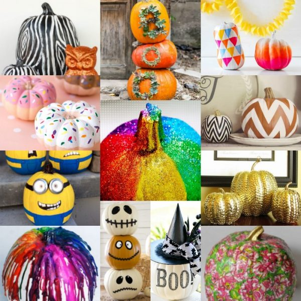 How to Decorate a Pumpkin without Carving It {20 easy ideas!}