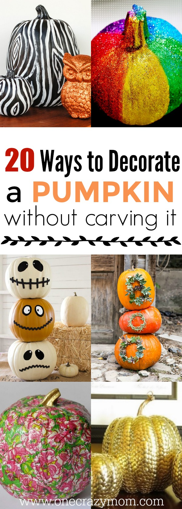 How to decorate a pumpkin without carving it easy ideas