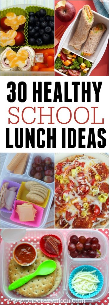 Find lots of healthy school lunch ideas here! 30 healthy back to school lunch ideas that are quick, easy and kid approved!