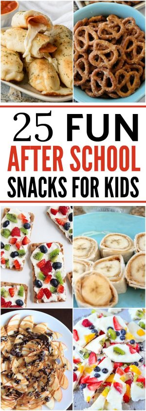 Check out these 25 fun after school snacks for kids. Even the pickiest eaters will love these. They are healthy and delicious!