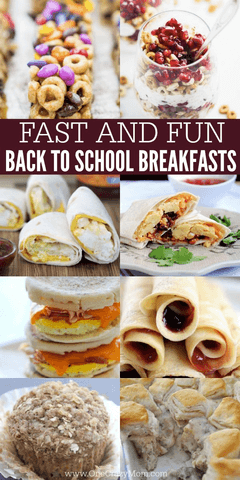 Check out these 30 back to school breakfast ideas. School mornings are crazy, especially the first week. These delicious and easy breakfast ideas will be a hit! Try these simple back to school breakfast recipes.