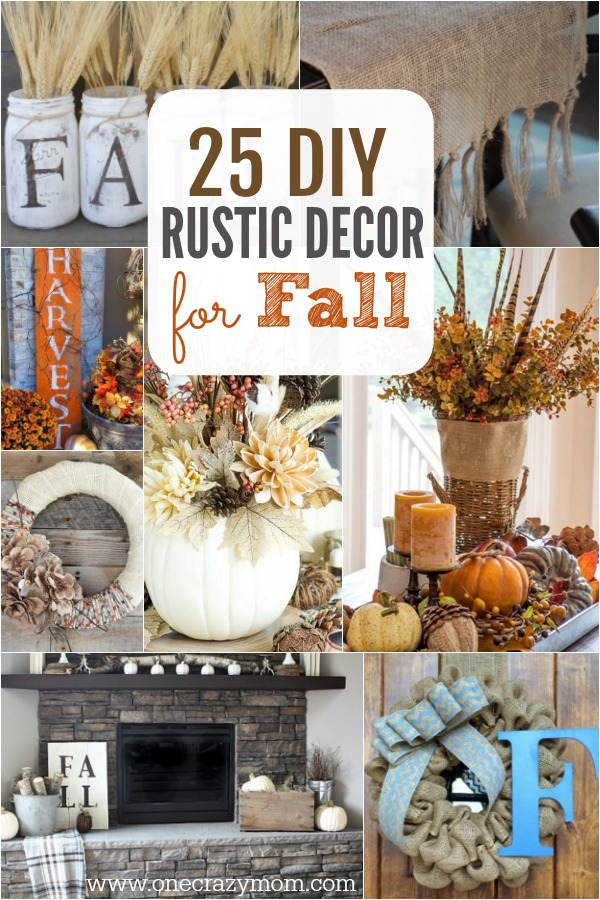 Fall is here and it's time to decorate. Check out these DIY Rustic Decor Ideas. 25 DIY fall decorating ideas that will make your home cozy for Fall!
