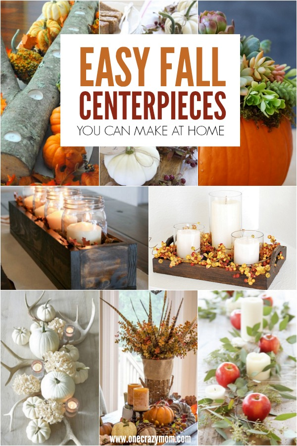 Diy fall centerpiece ideas easy decorations and
