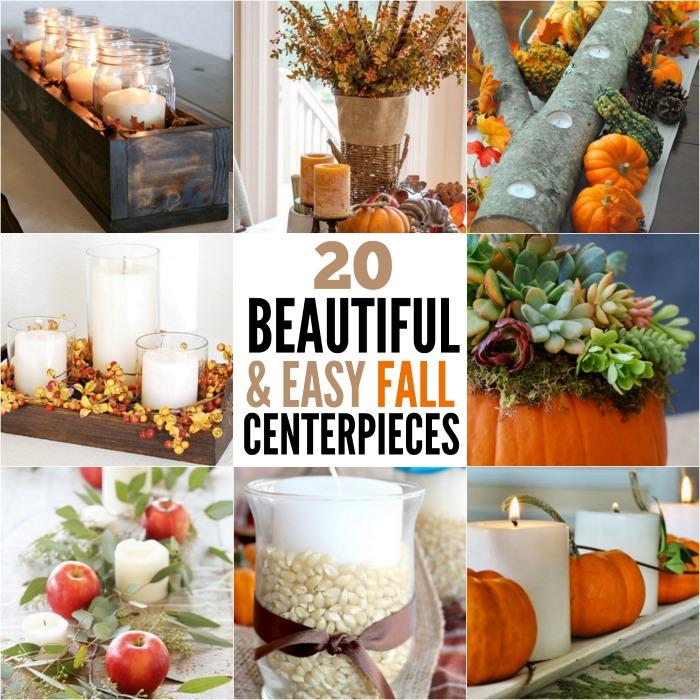 20 Easy DIY Fall Centerpiece Ideas that anyone can make