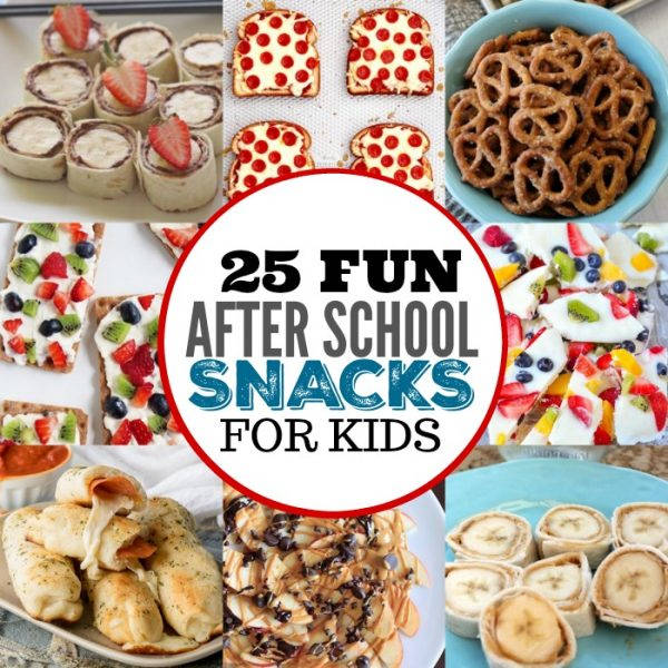 25 After School Snacks for Kids