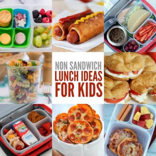 If your kids are tired of sandwiches, check out these Non Sandwich Lunch Ideas. 20 non sandwich lunch ideas for kids that even picky eaters will enjoy.