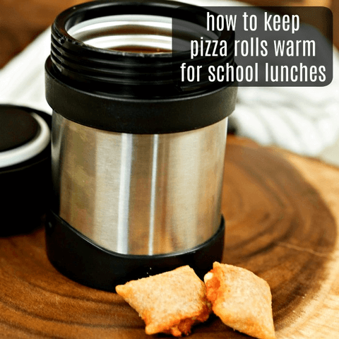 How to Send Pizza rolls in School lunches - It is so easy to do and keeps them warm! This is one of our favorite kid school lunch ideas. It's so simple!