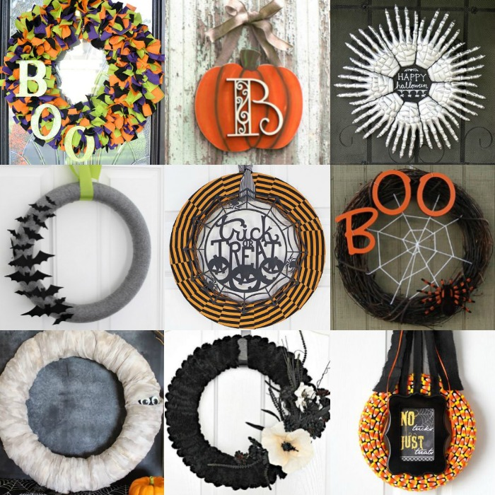 Diy halloween wreath ideas 15 creative ideas for your home - Interesting diy halloween wreaths home ...