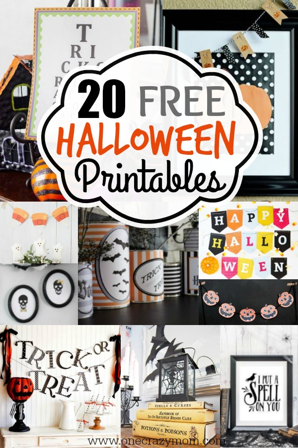 image relating to Free Halloween Printable named Totally free Halloween Printables - 20 Printable Halloween Decorations