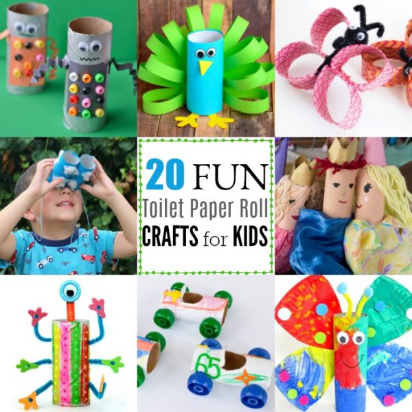 20 Toilet Paper Roll Crafts for Kids