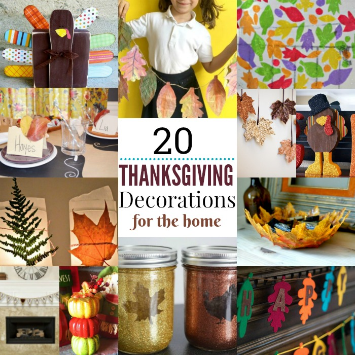 Get inspired with these Thanksgiving home decorations.20 DIY Thanksgiving Decorations you will love.Thanksgiving home decorations that won't bust the budget