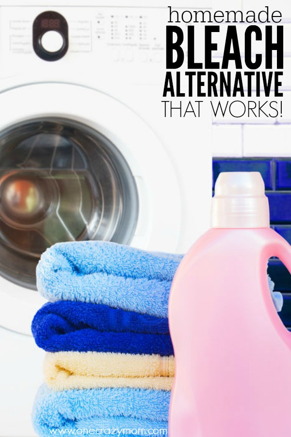 Never worry about chemicals again and make natural bleach alternative. It's so easy to make homemade bleach. You will love this simple bleach alternative.