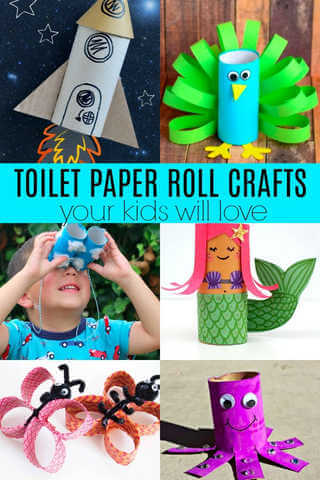 Get creative and use what you already have at home! Make these toilet paper crafts for kids. 20 toilet paper roll crafts that are so fun to make.