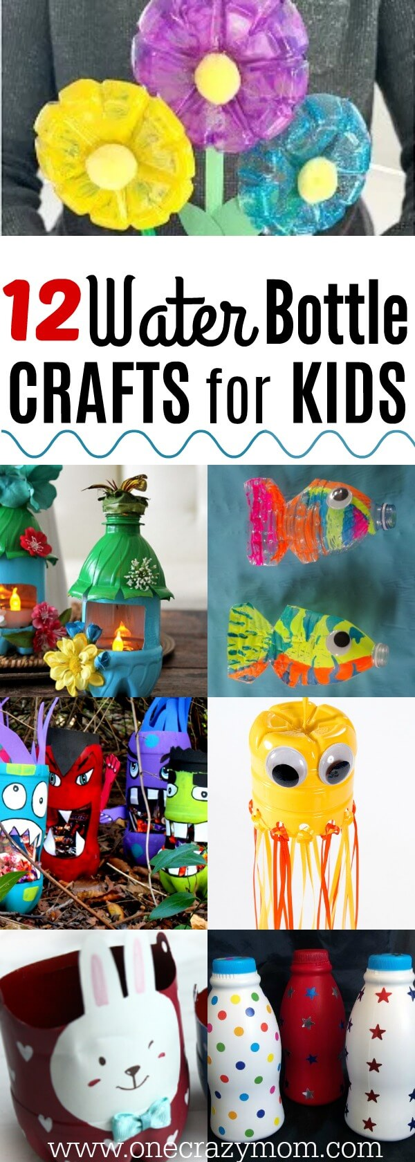 Find water bottle crafts for kids. 12 water bottle crafts for kids. They will love these plastic bottle craft ideas to keep them busy. Plastic bottle crafts are frugal and tons of fun for kids!