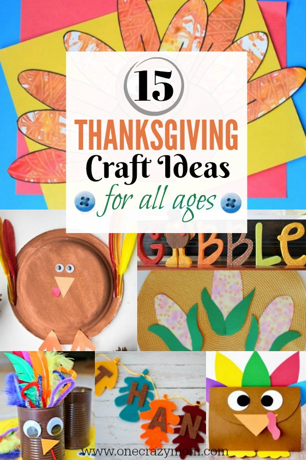 Thanksgiving craft ideas 15 thanksgiving activities for kids for Fun crafts for all ages