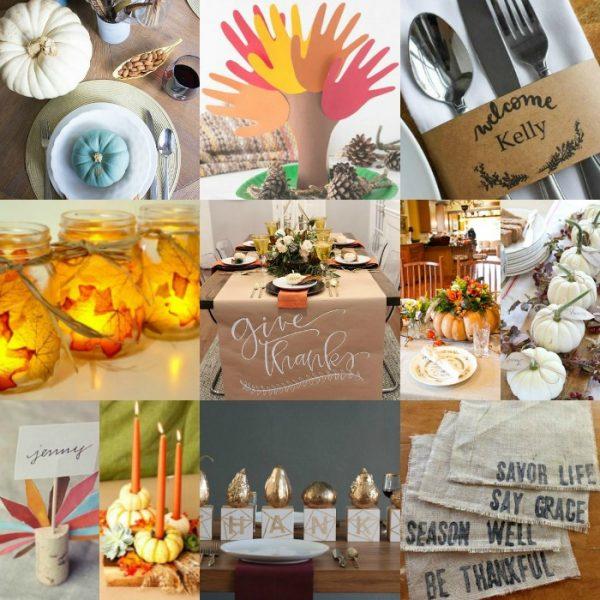 20 DIY Thanksgiving Table Decor Ideas