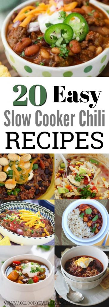 When cooler weather approaches, it's time to start to think about easy slow cooker chili recipes. We have over 20 of the best slow cooker chili recipes.