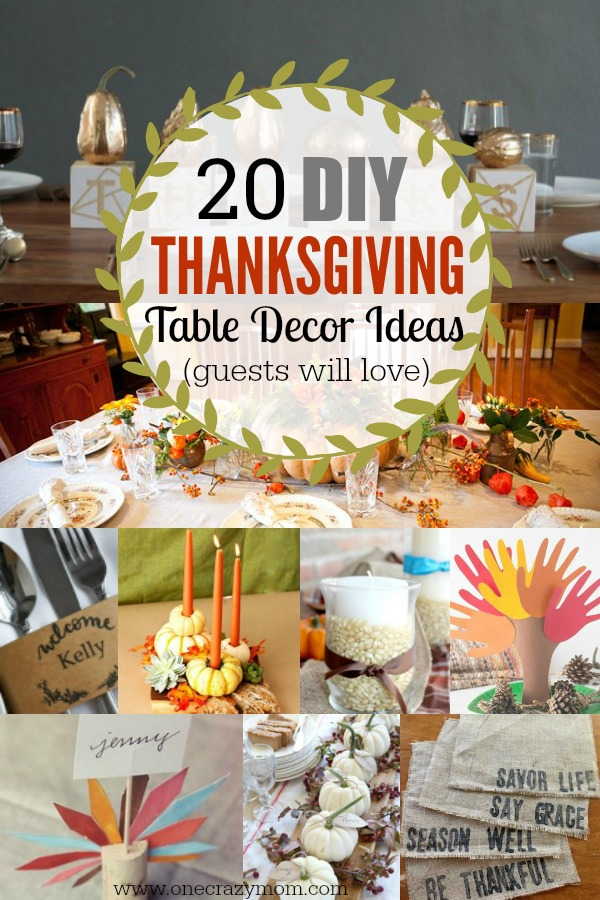 Thanksgiving table decor ideas easy