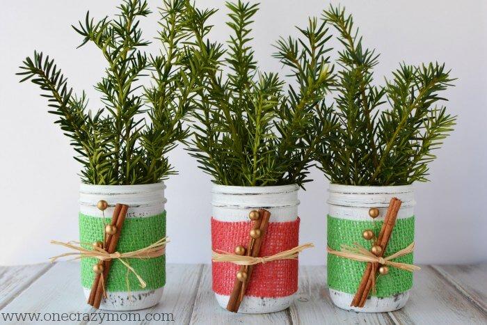 Mason jar christmas centerpiece holiday ideas