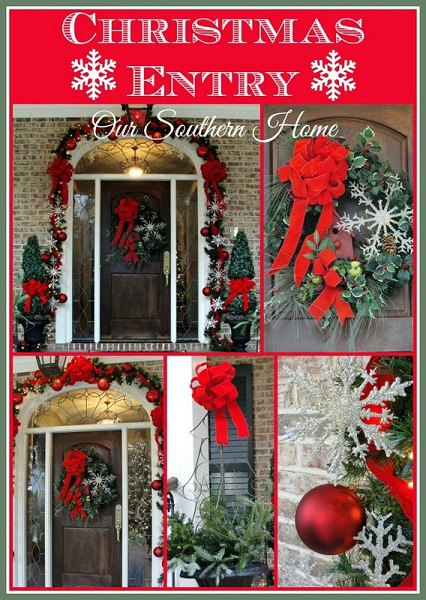Get your home ready for Christmas with these 25 Christmas Porch Decorating Ideas. Beautiful Christmas porch ideas that are simple and budget friendly!