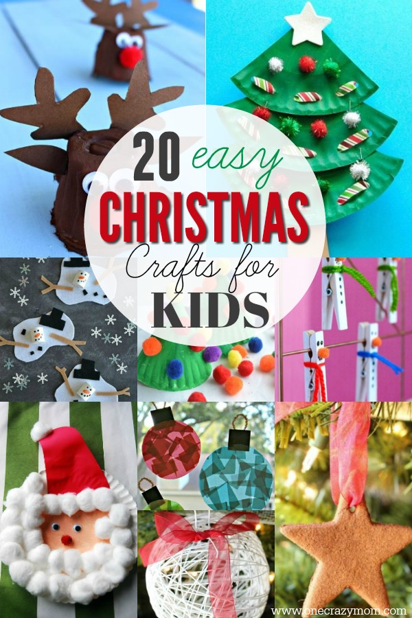 Easy Christmas Crafts for Kids - 20 Christmas Craft Ideas for Kids