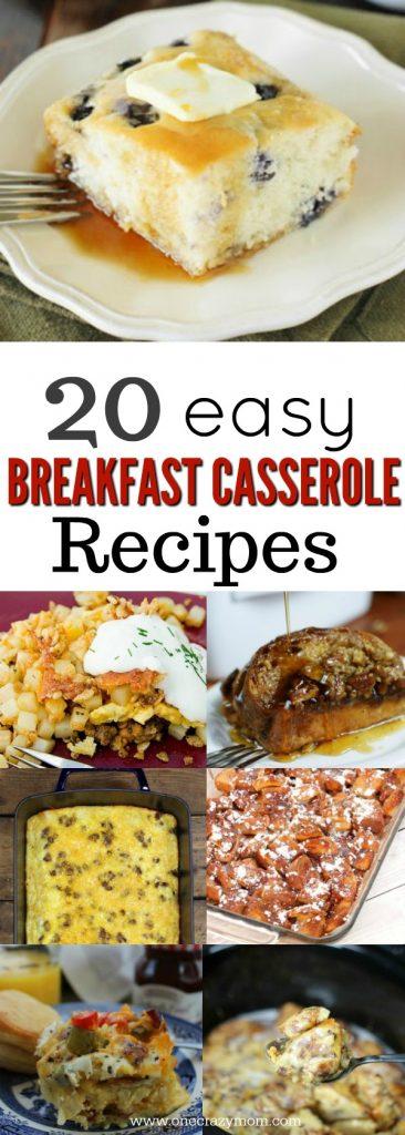 Try these easy breakfast casserole recipes. 20 of the best breakfast casserole recipes the entire family will love. These are quick and easy and sure to please everyone!