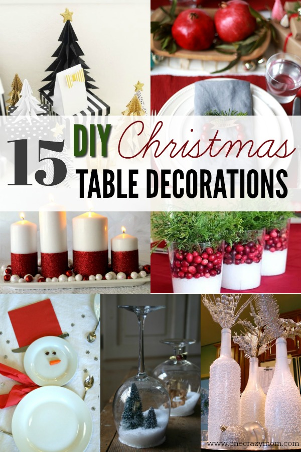 Diy Christmas Table Decorations 15 Christmas Table