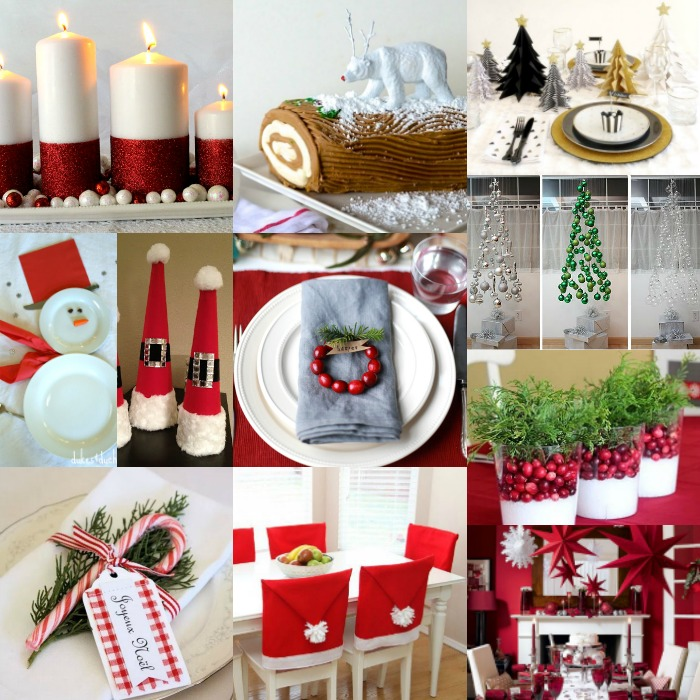 Xmas Table Centerpieces Ideas: DIY Christmas Table Decorations
