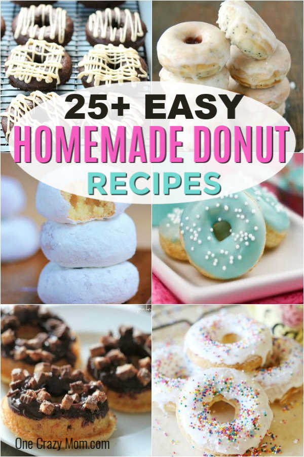 Try these mouthwatering homemade donut recipes. Over 25 easy donut recipes you will love. Homemade donut recipes are really easy and so delicious.