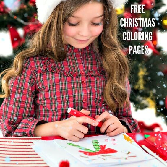 15 FREE Christmas Coloring Pages