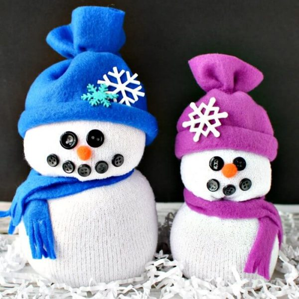 Easy DIY Sock Snowman Craft