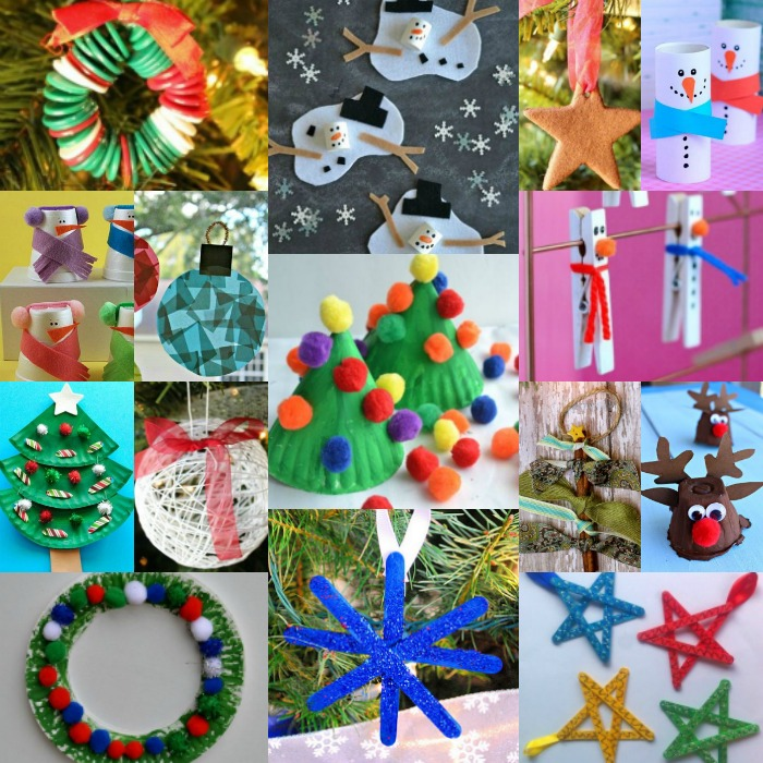 find easy christmas crafts for kids that are easy to do they will love these - Childrens Christmas Tree Decorations