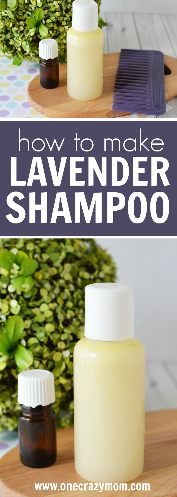 Lavender shampoo is the best natural shampoo. Learn how to make shampoo at home. Make your own shampoo that is so quick and easy!