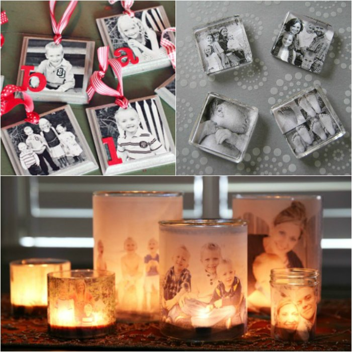 Make one of these easy homemade photo gift ideas for Christmas presents, a birthday or any occasion. I know grandma, grandpa and mom would love these creative photo DIY gift ideas. Also these are great gift ideas for a friend or for him. These are easy unique ideas that's a great way to give memories. Kids loving making these gifts and collages with wood. #onecrazymom #DIYgifts #photogifts