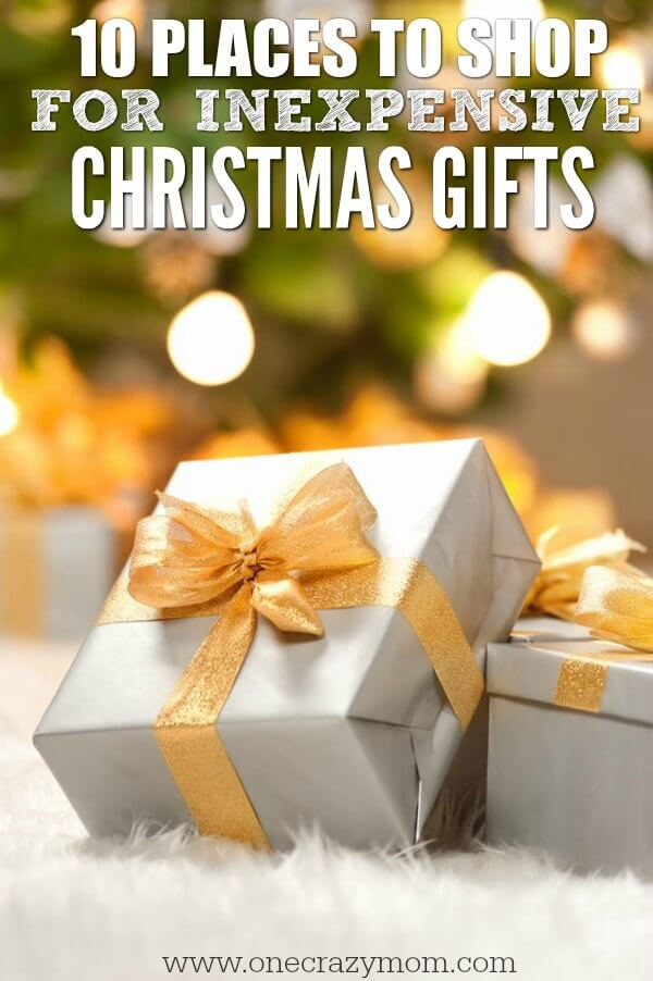The holidays can be expensive! Save money with these places to shop for inexpensive Christmas gifts. 10 places for inexpensive Christmas gifts.