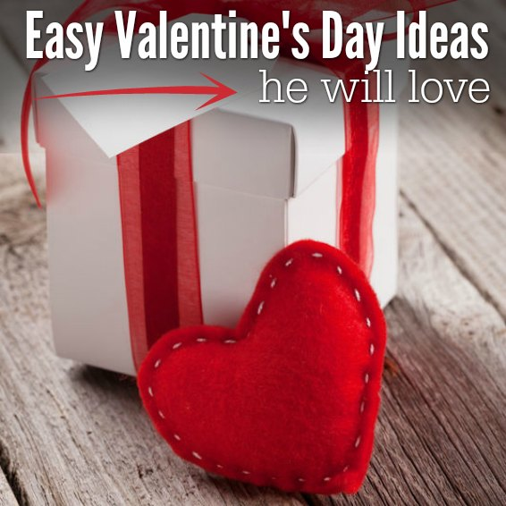 Valentine's Day Ideas for him that he will love. 9 Valentine gifts for him that don't take much advance planning. Mens valentines gifts that won't bust the budget. Valentines Day presents for him that won't take a ton of time. Valentines day gift ideas for him.