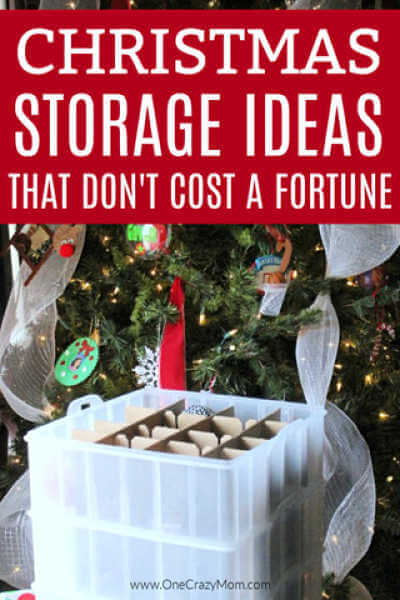 We have 25 easy Christmas storage ideas. Get everything organized with these Christmas decoration storage ideas that are creative and budget friendly