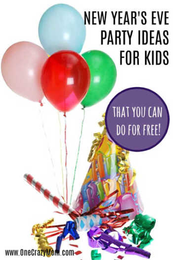 Try one of these 8 fun new years eve party ideas for kids. You can put these together for a fun and free new years party with the family and kids.